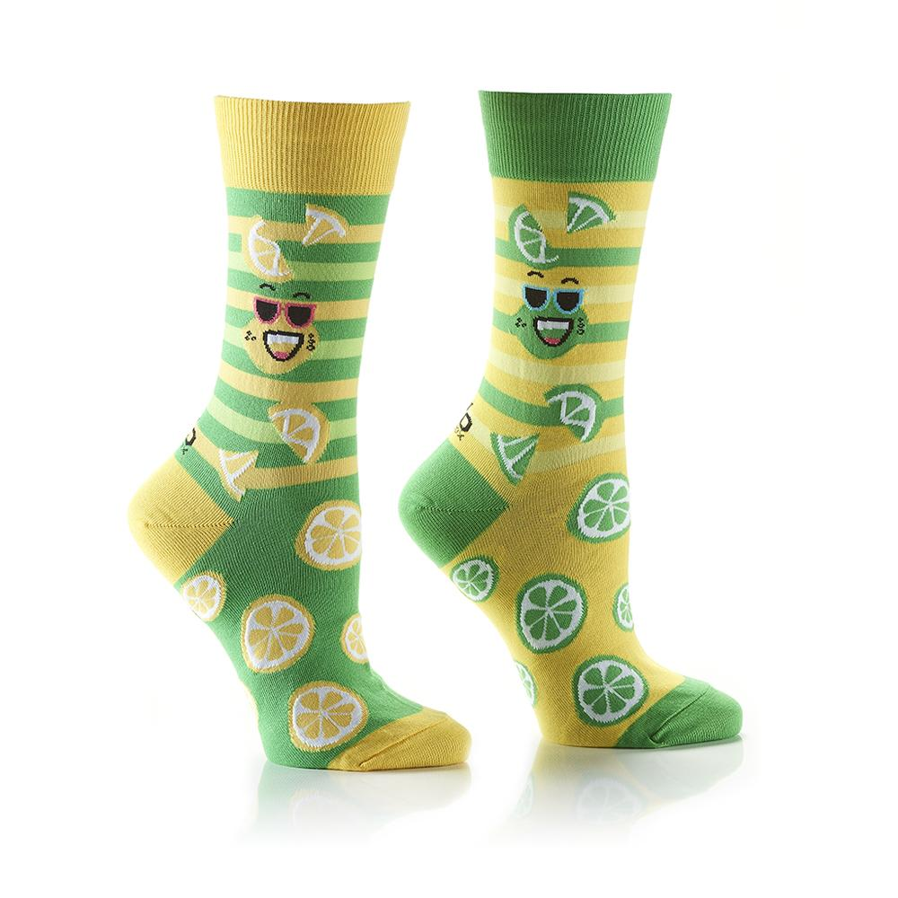 Lemon & Lime: Women's Crew Socks - Yo Sox Canada