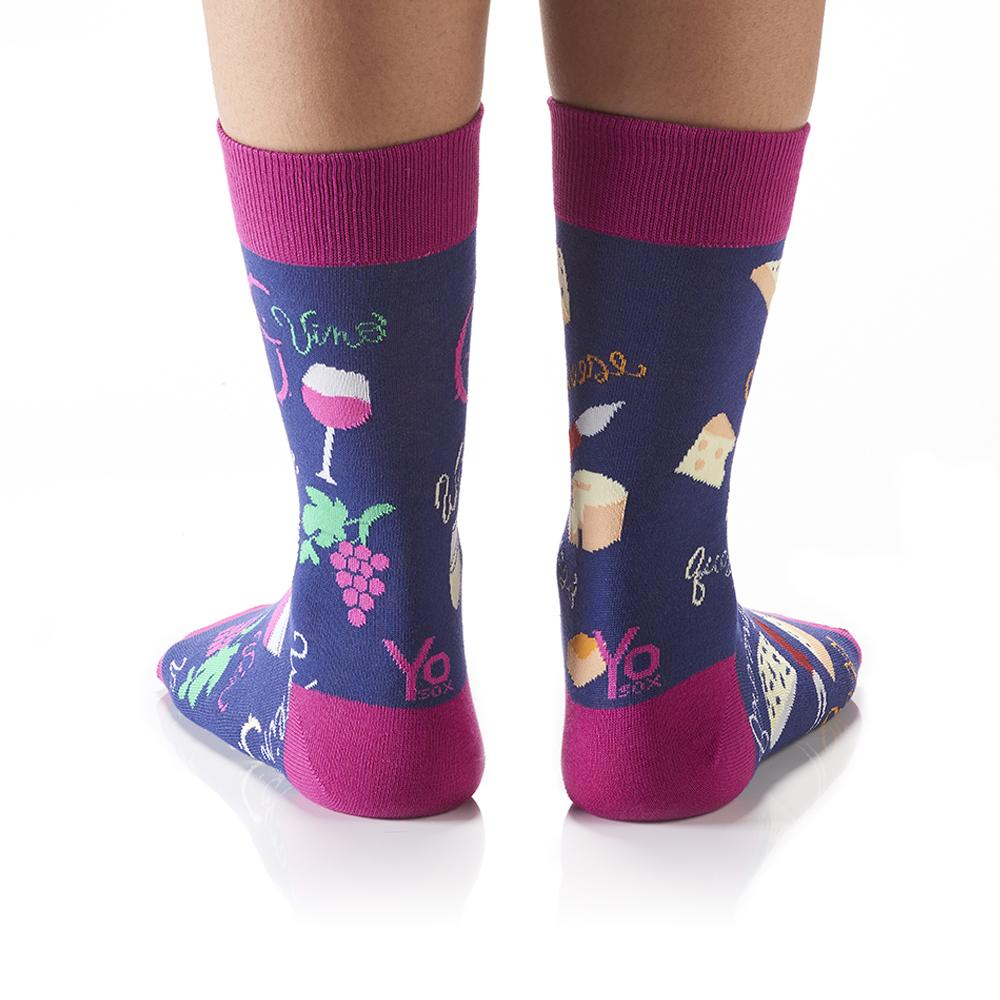 Wine & Cheese: Women's Crew Socks