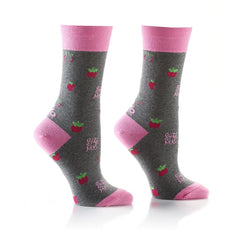 Bite Me: Women's Crew Socks - Yo Sox Canada