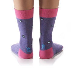 Got My Eyes On You: Women's Crew Socks - Yo Sox Canada