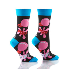 Bubble Gum: Women's Crew Socks
