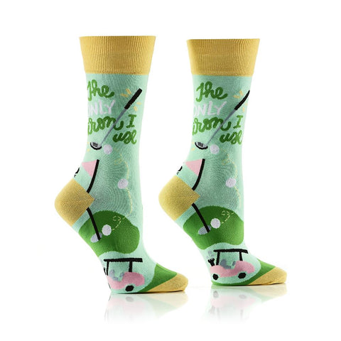 Golf Girl: Women's Crew Socks - Yo Sox Canada