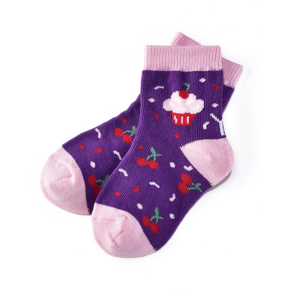 Cherry Cupcake: Toddler Socks (Age 1-2)