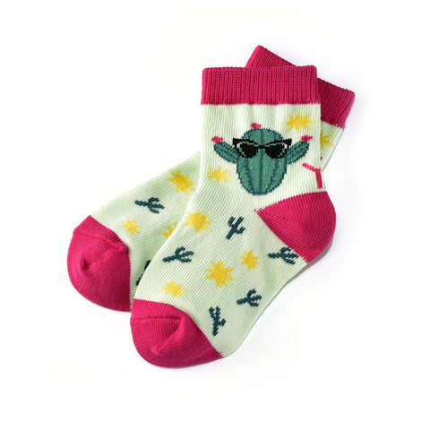 Cool Cactus: Toddler Socks (Age 1-2)