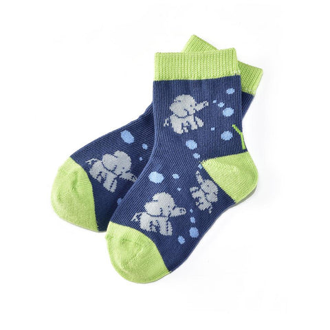 Elephant Fun: Toddler Socks (Age 1-2)