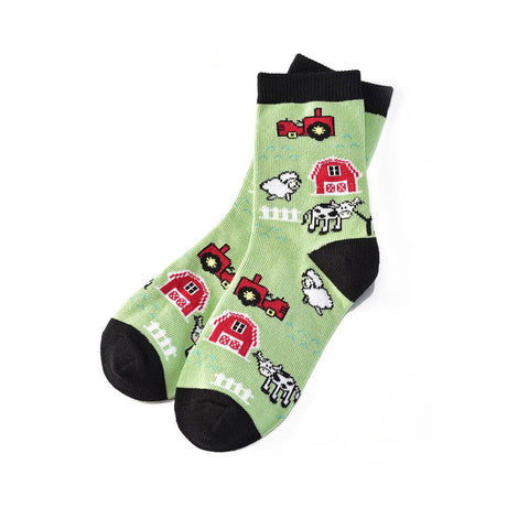 Farm Meadows: Youth Socks (Age 7-10)