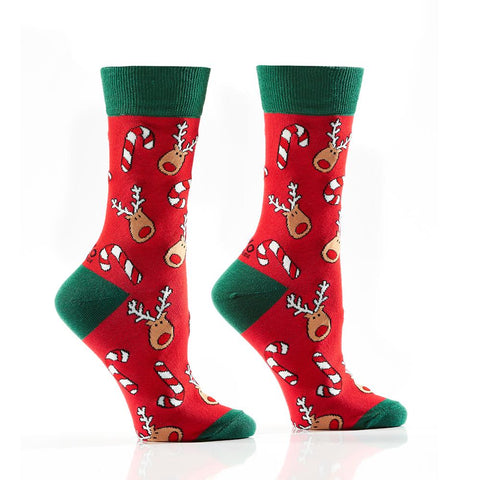Sweet Rudolph: Women's Crew Socks
