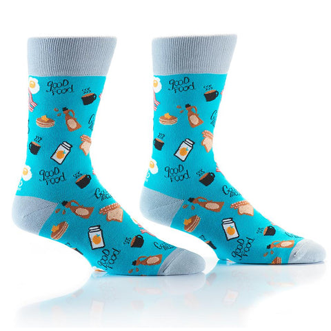 Breakfast: Men's Crew Socks