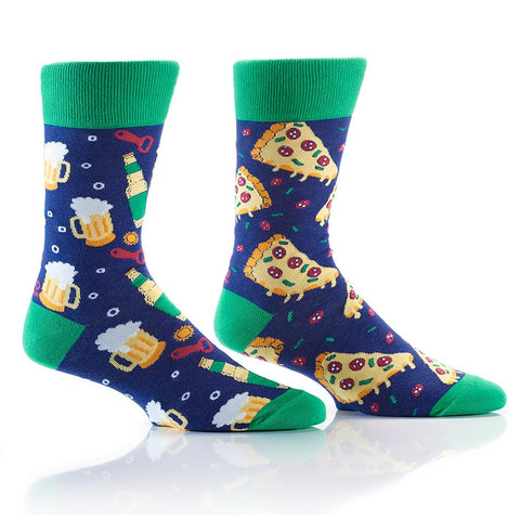 Pizza & Beer: Men's Crew Socks
