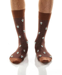 But First Coffee: Men's Crew Socks