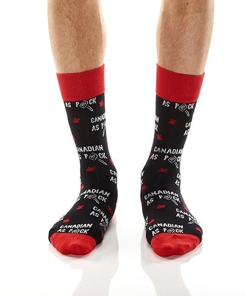 Canadian As Puck: Men's Crew Socks