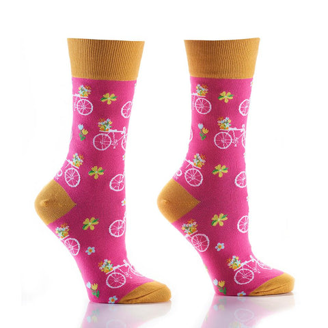 Flower Power: Women's Crew Socks - Yo Sox Canada