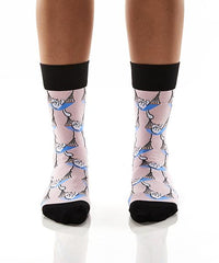 Cat naps: Women's Crew Socks - Yo Sox Canada