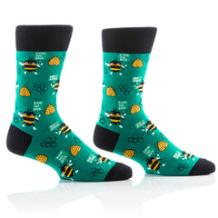 Save The Bees Mens Crew Sox