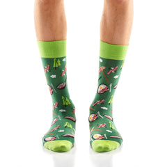 Bacon in the Wild Mens Crew Sox