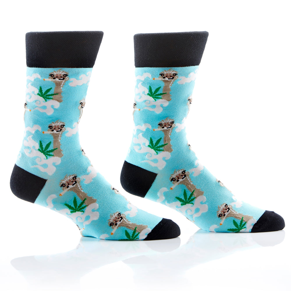 Fly Ostrich Mens Crew Sox
