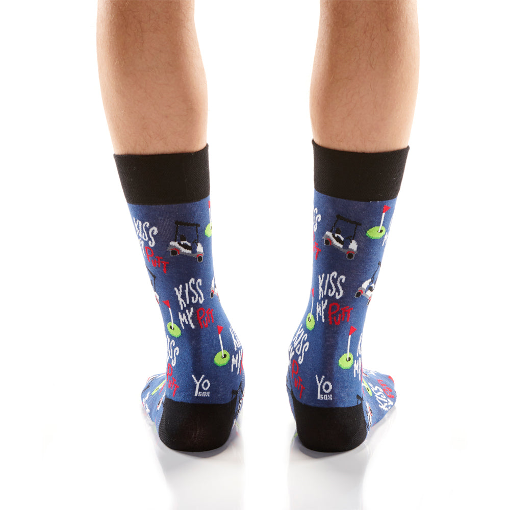 Kiss My Put Mens Crew Sox