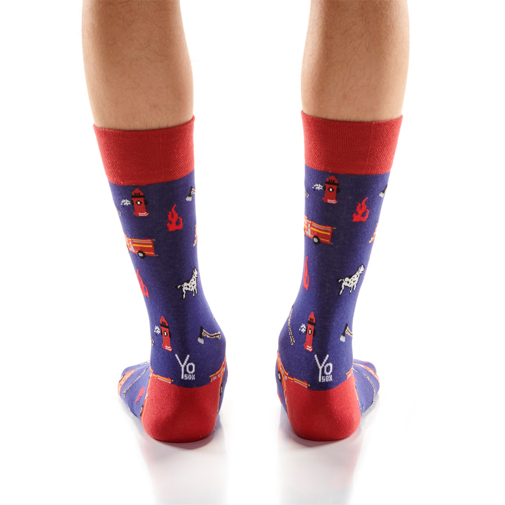 Fire Fighter Mens Crew Sox