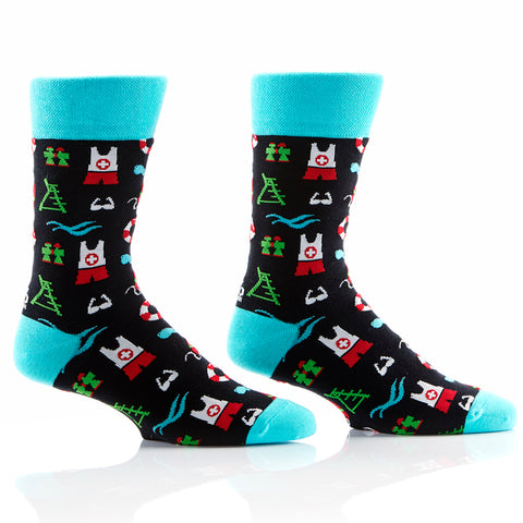 Lifegaurd Mens Crew Sox