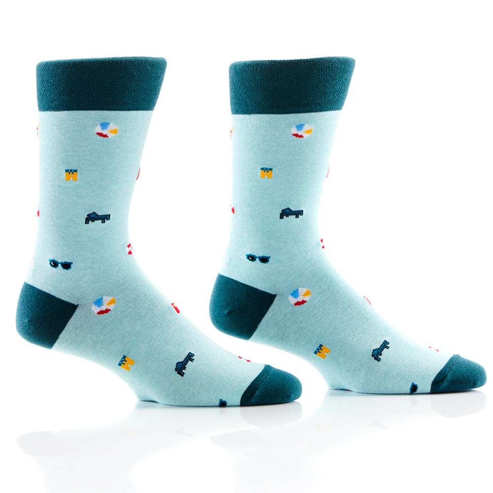 Pool Day Mens Crew Sox