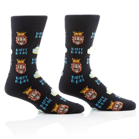Birthday King Mens Crew Sox