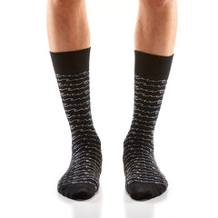 Wave Stripe Mens Crew Sox
