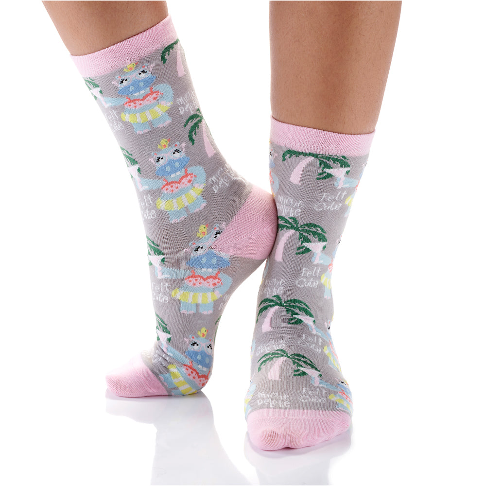 Summer Vibes Womens Crew Sox