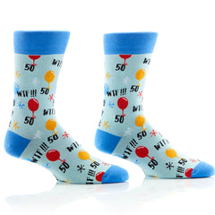 50th Birthday Mens Crew Sox