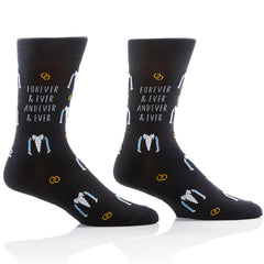 Wedding Vibes Mens Crew Sox