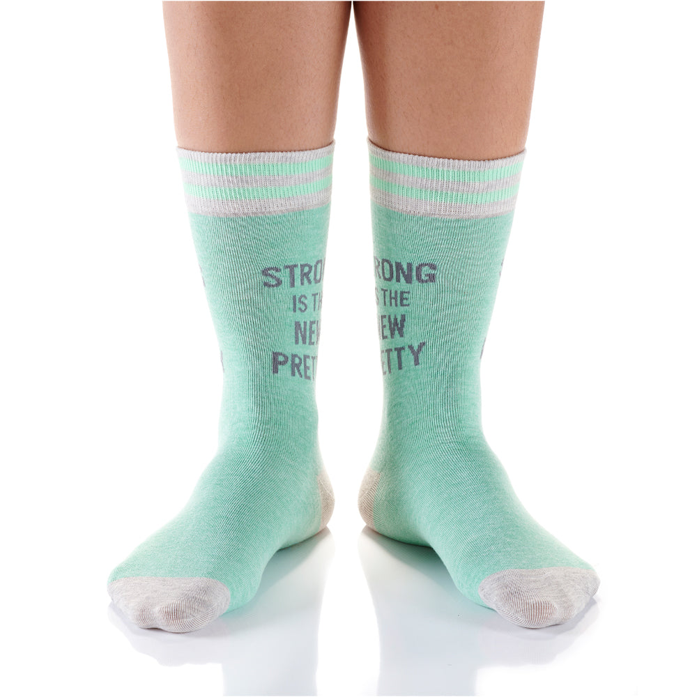 Strong Is Pretty Womens Crew Sox