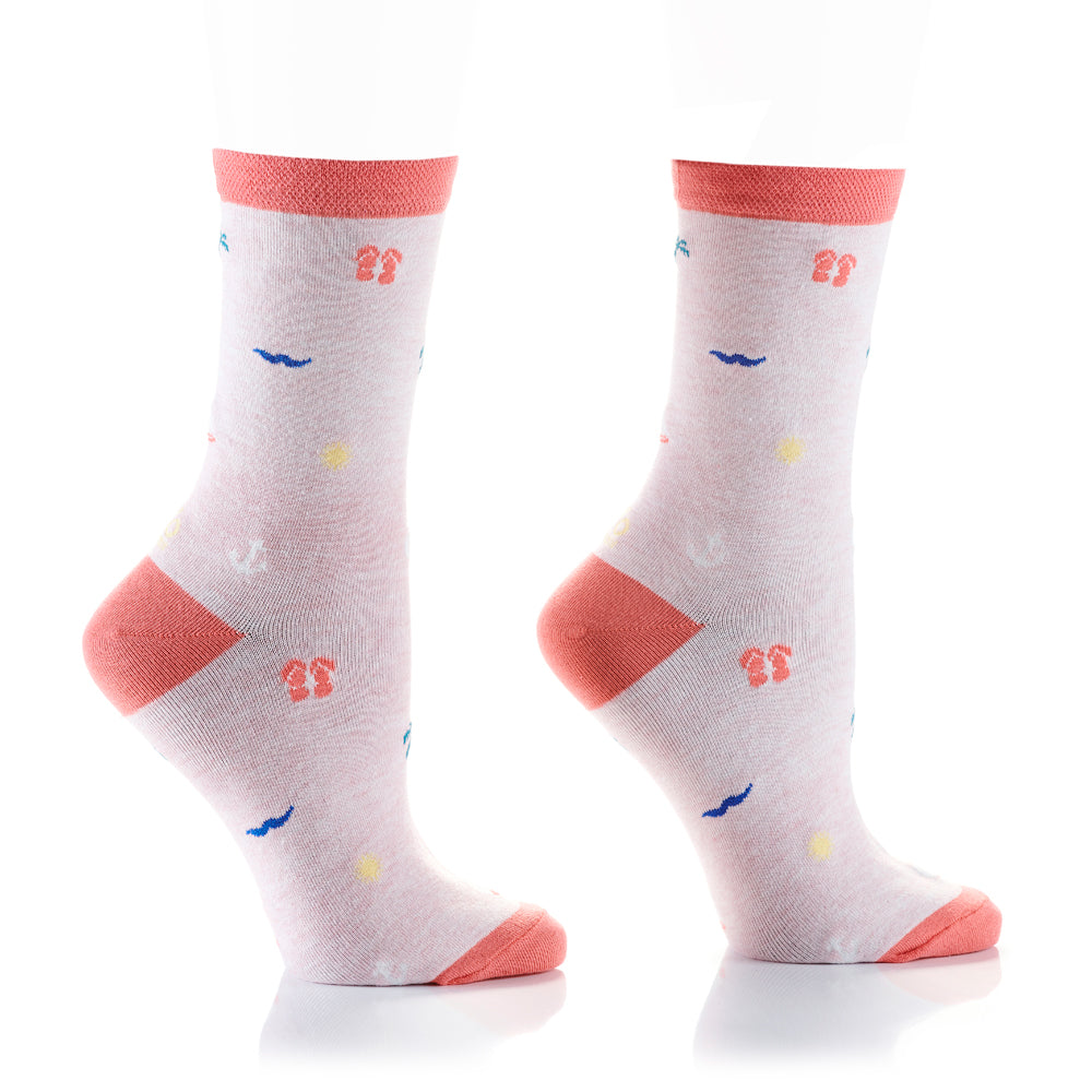 Vacation Time Womens Crew Sox