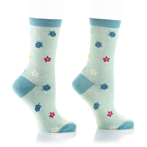 Save The Turtles Womens Crew Sox