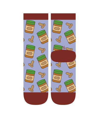Peanut Butter Time Womens Crew Sox
