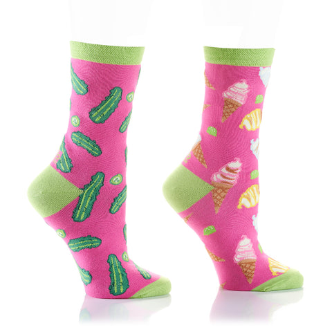 Pickles and Ice Cream Womens Crew Sox