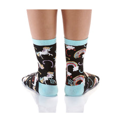 Rainbow and Unicorns Womens Crew Sox