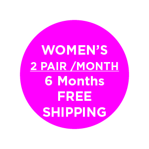 Women's 2 Pair/Month (6 Months) , Subscription - Yo Sox, USA Yo Sox - 2