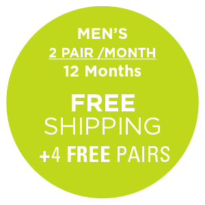 Men's 2 Pairs/Month (12 Months) , Subscription - Yo Sox, USA Yo Sox - 2