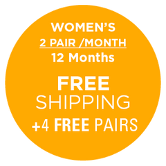 Women's 2 Pairs/Month (12 Months) , Subscription - Yo Sox, USA Yo Sox - 2
