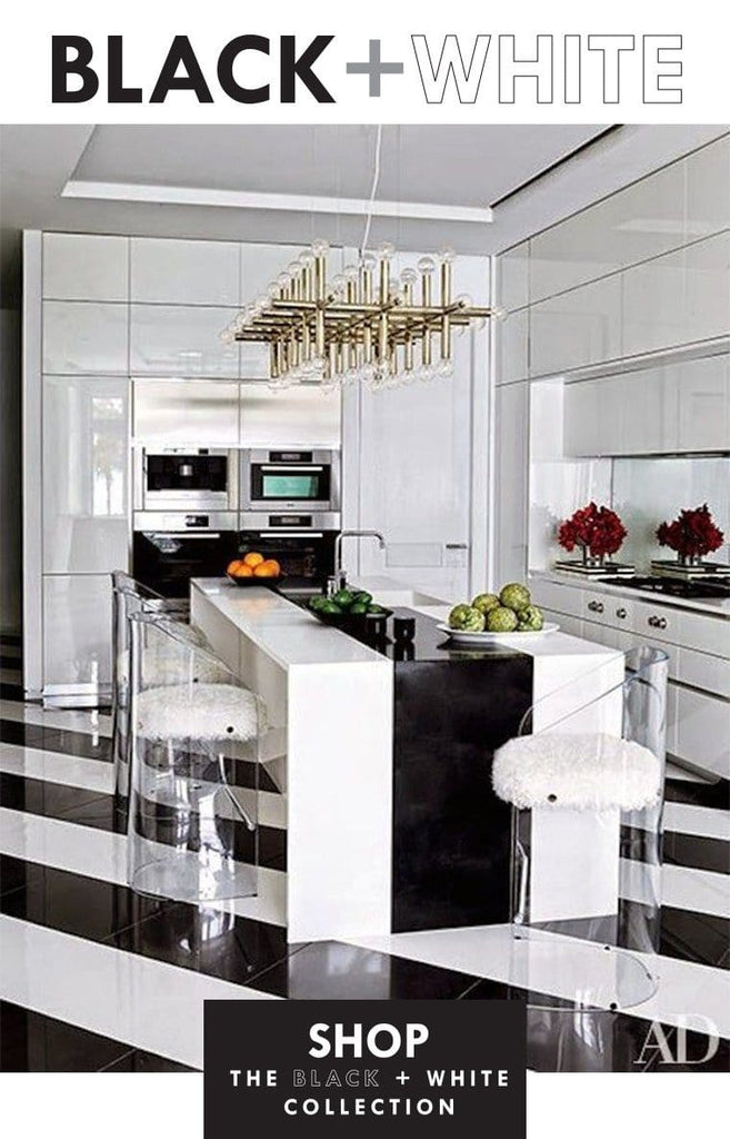 BLACK WHITE Modern Furniture Home Decor Tabletop Magnificent Home Interior Design Blogs Collection