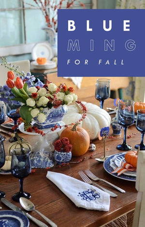 A Blue Ming Thanksgiving Tablescape