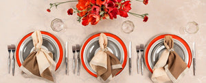 Casablanca red and tan dinnerware collection Vista Alegre