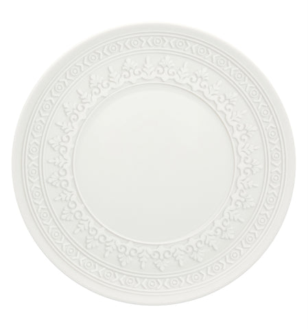Midcentury White Ornament Bread and Butter Plate by Vista Alegre