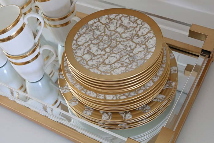 Macy Stucke Gold Dining Room Tablesetting Style Tempio Luna dinnerware