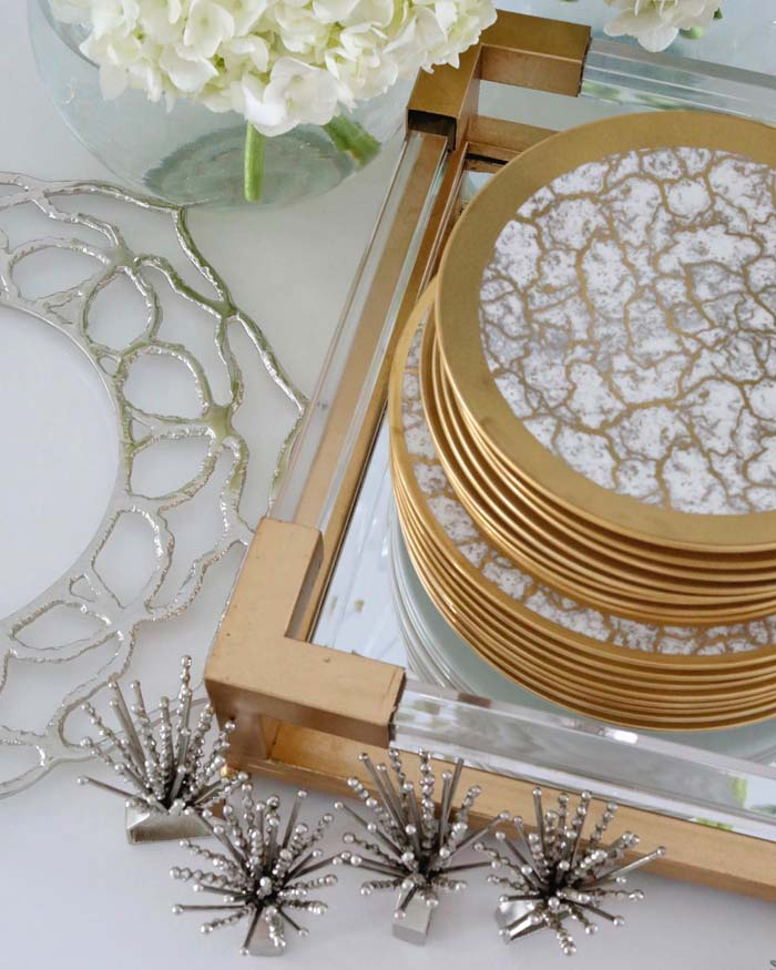 Macy Stucke Gold Dining Room Tablesetting Style Tempio Luna Gold Michael Wainwright