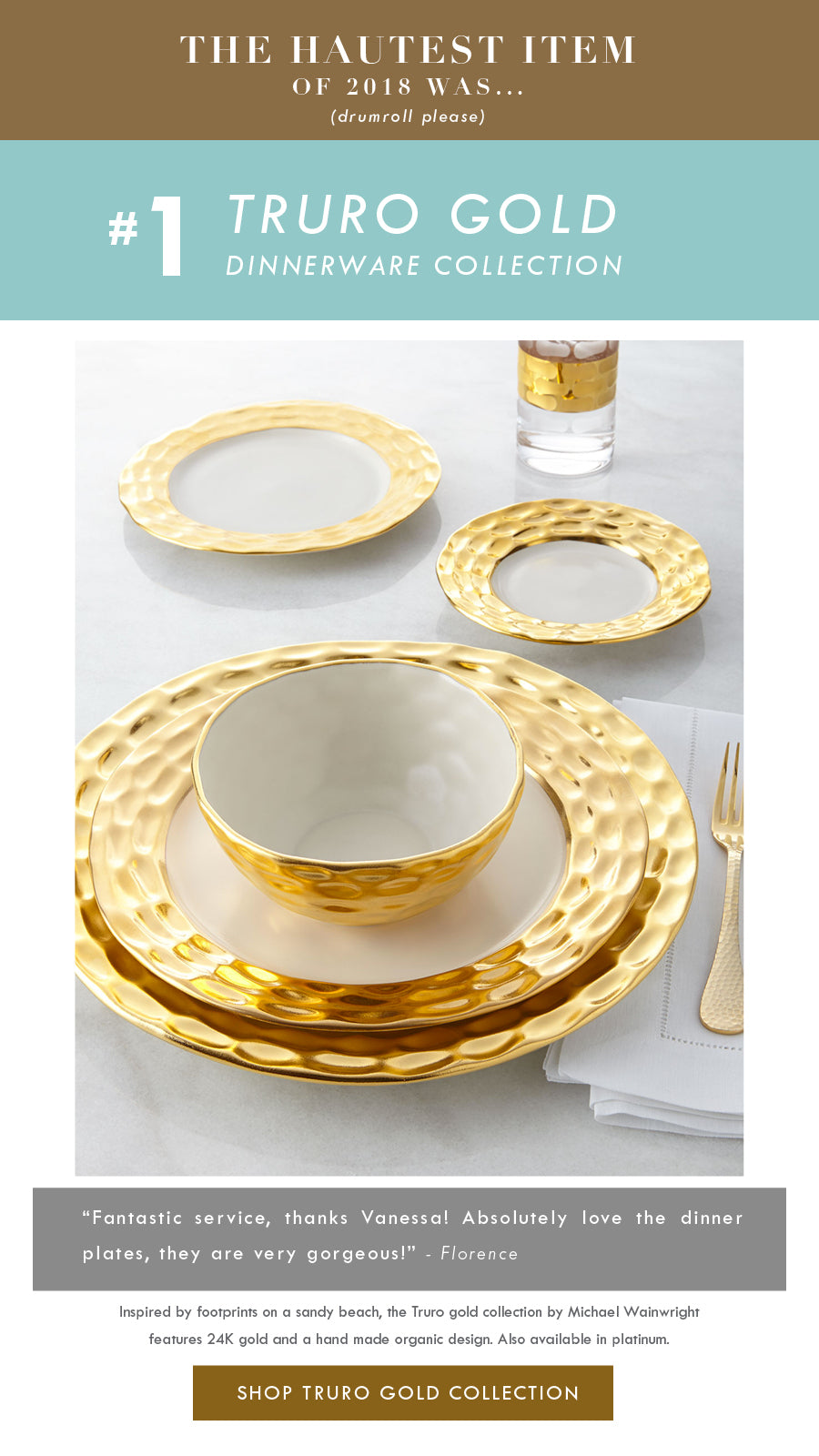 Top 18 Luxury Home Decor Trends Michael Wainwright Truro Gold Dinnerware