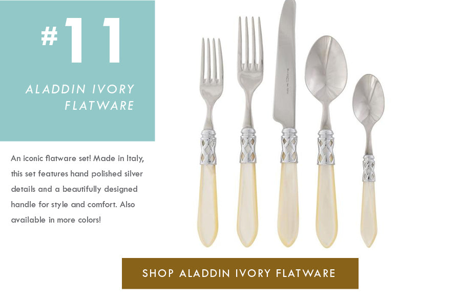 Top 18 Luxury Home Decor Trends Aladdin ivory flatware