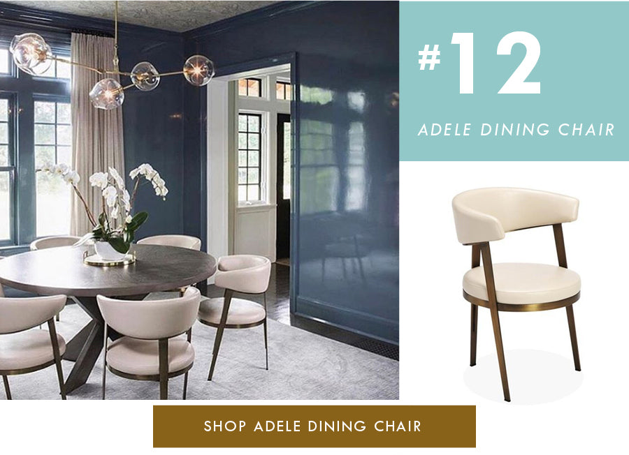 Top 18 Luxury Home Decor Trends Adele cream dining chair Interlude Home
