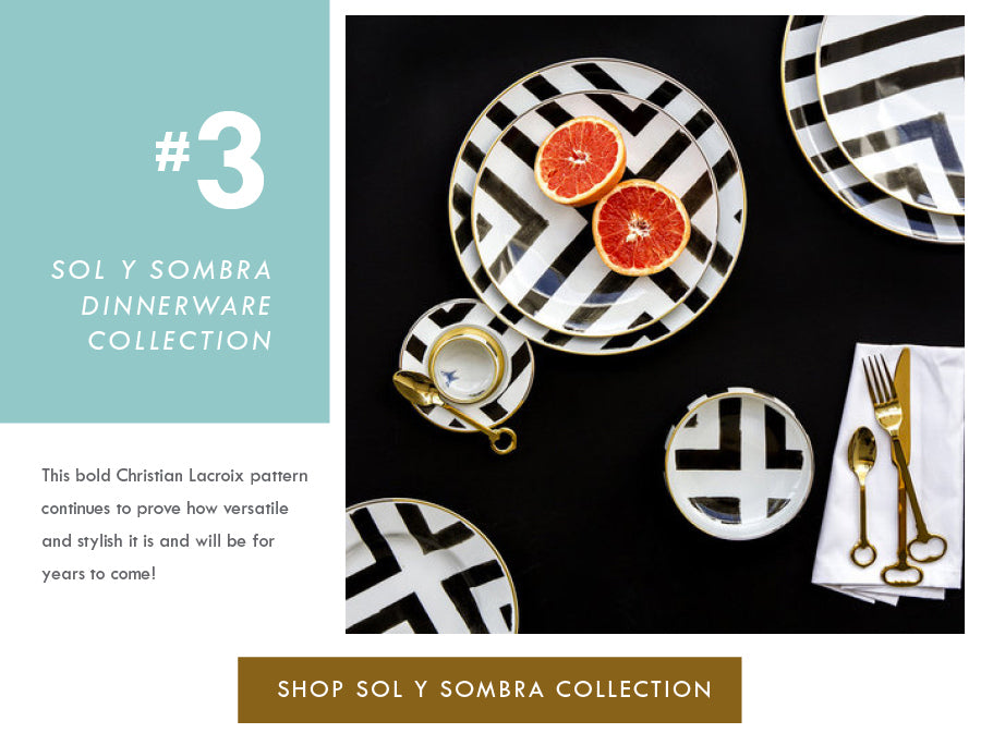 Top 18 Luxury Home Decor Trends Sol y Sombra Christian Lacroix Dinnerware Vista Alegre