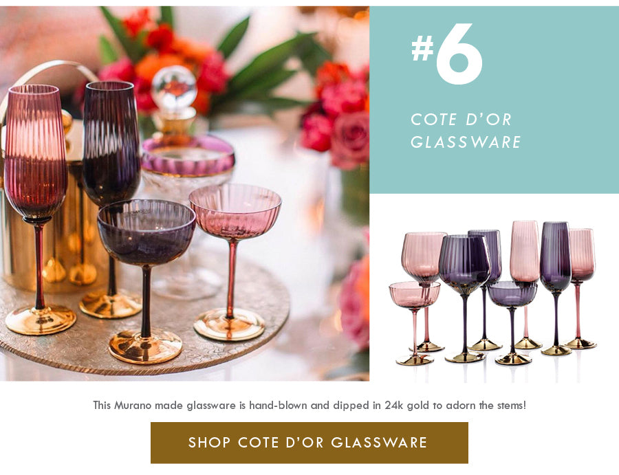 Top 18 Luxury Home Decor Trends Nason Moretti Cote d'Or Glassware