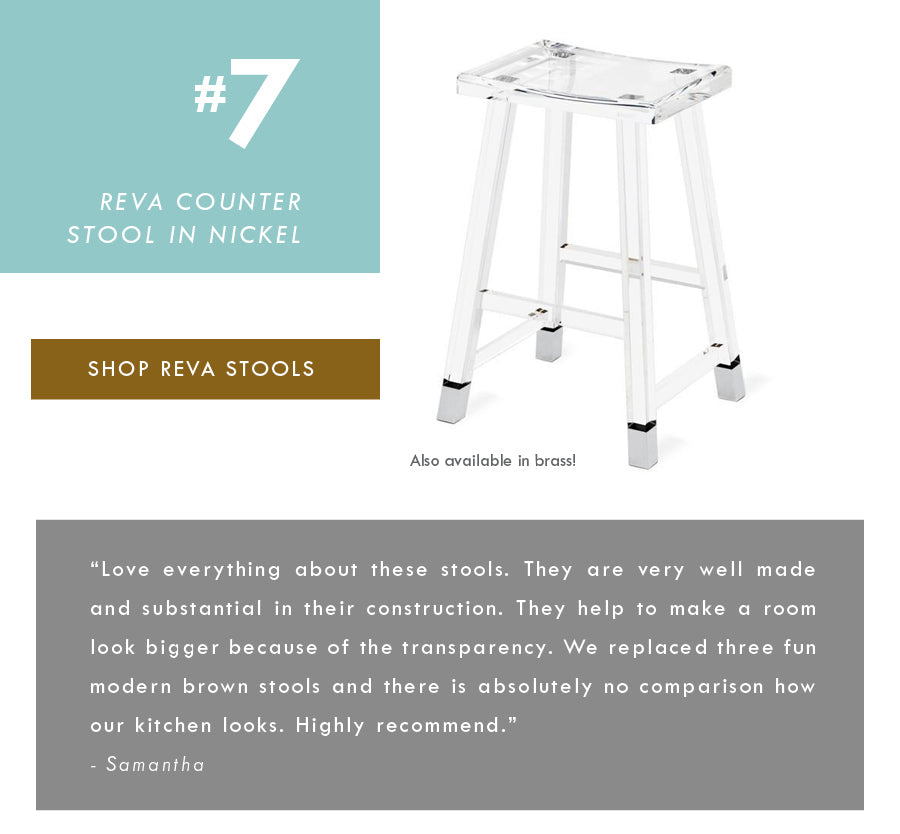 Lucite Furniture Top 18 Luxury Home Decor Trends Interlude Home Reva Stool